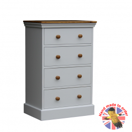 Wiltshire Bedroom Chest 4 Drawer Narrow