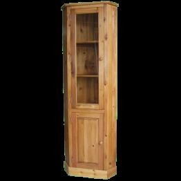 Rustic Pine Glazed Corner Cupbd 1 door