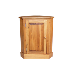 Rustic Pine Corner Cupboard