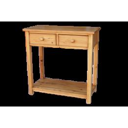 Rustic Pine Telephone Table-2 Drw