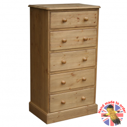 "Cottage Pine 24"" 5 Drawer chest"