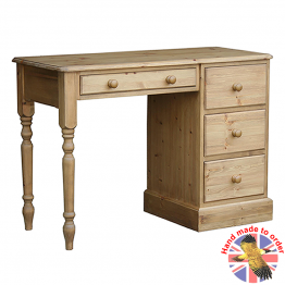 Cottage Pine single pedestal dressing chest