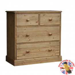 "Cottage Pine 36"" 2 over 2 deep drawer chest"