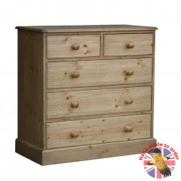 "Cottage Pine 36"" 2 Over 3 Chest of Drawers"
