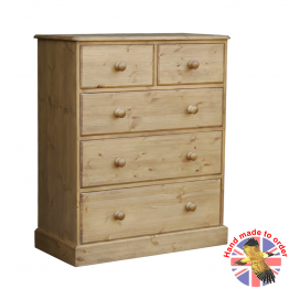 "Cottage Pine 36"" 2 over 3 deep drawer chest"