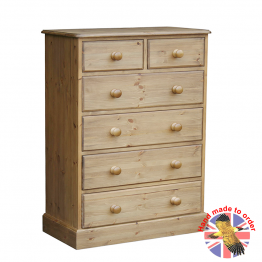 "Cottage Pine 36"" 2 over 4 Chest"