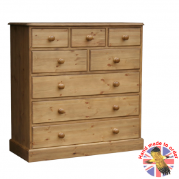 "Cottage Pine 42"" 8 drawer combi chest"