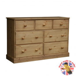 "Cottage Pine 54"" 3 over 2 over 2 Large chest"