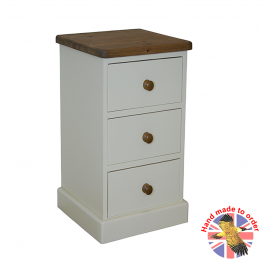 Farrow Old White 3 drawer Narrow Bedside