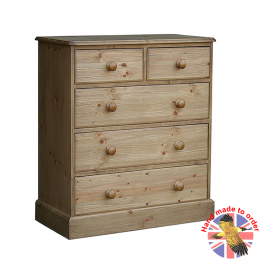 "Cottage Pine 30"" 2 over 3 drawer chest"
