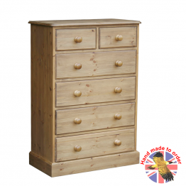 "Cottage Pine 30"" 2 over 4 drawer chest"