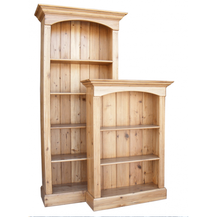 Antique Pine Bookcase - 4 Shelf