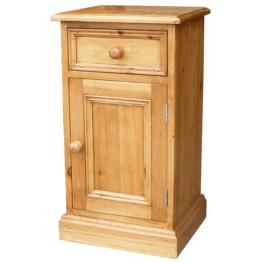 Antique Pine Bedside Cabinet RH Door