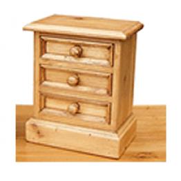 Antique Pine Trinket Box (Small)