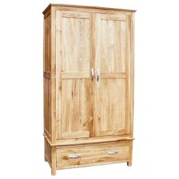 Avon Oak 2 Door Double wardrobe on Drawer