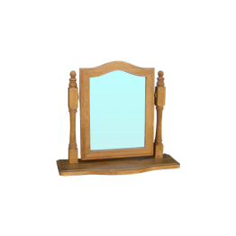 Pine Dressing Mirror on Stand